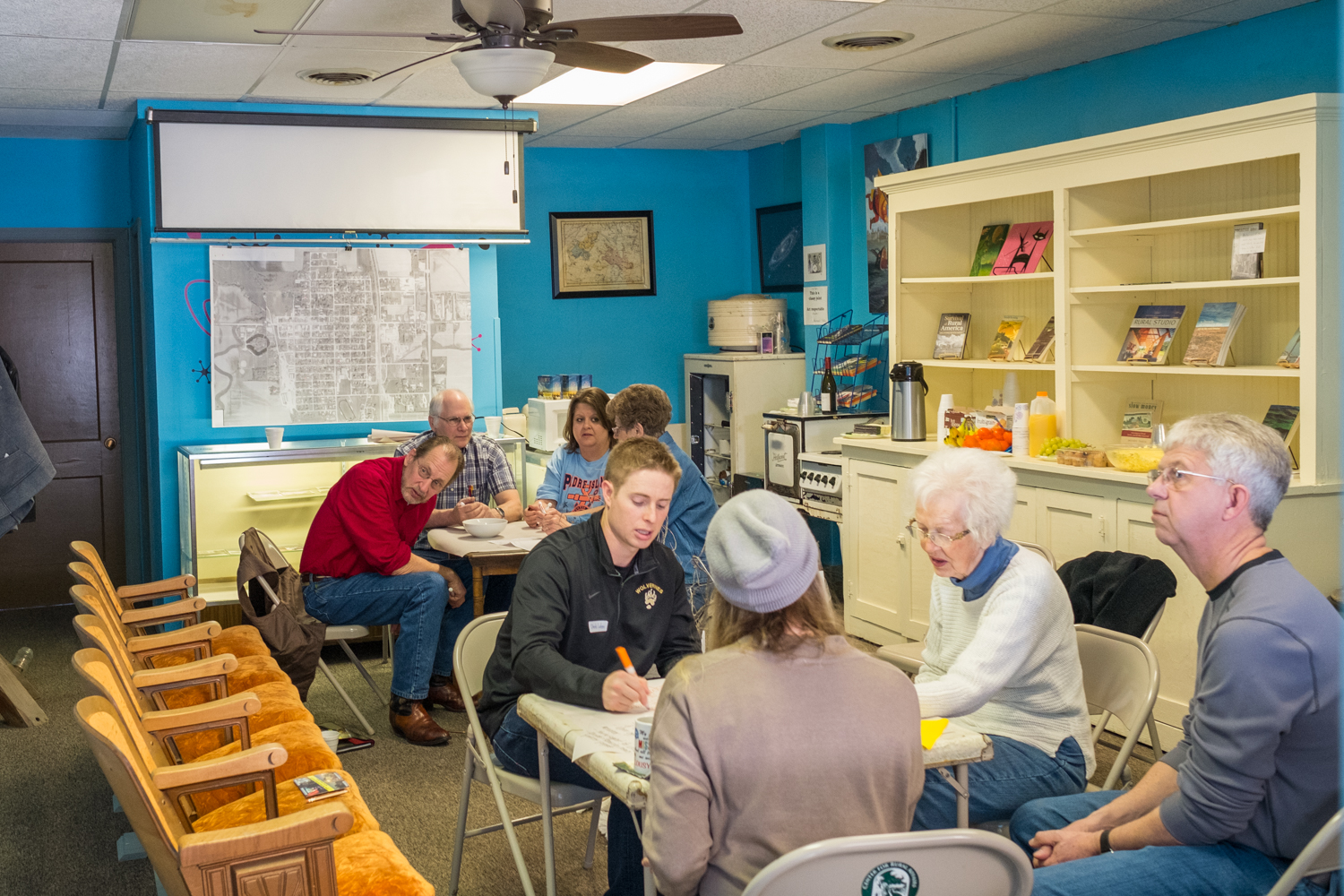 Lyons residents participate in a series of conversations around community leadership.
